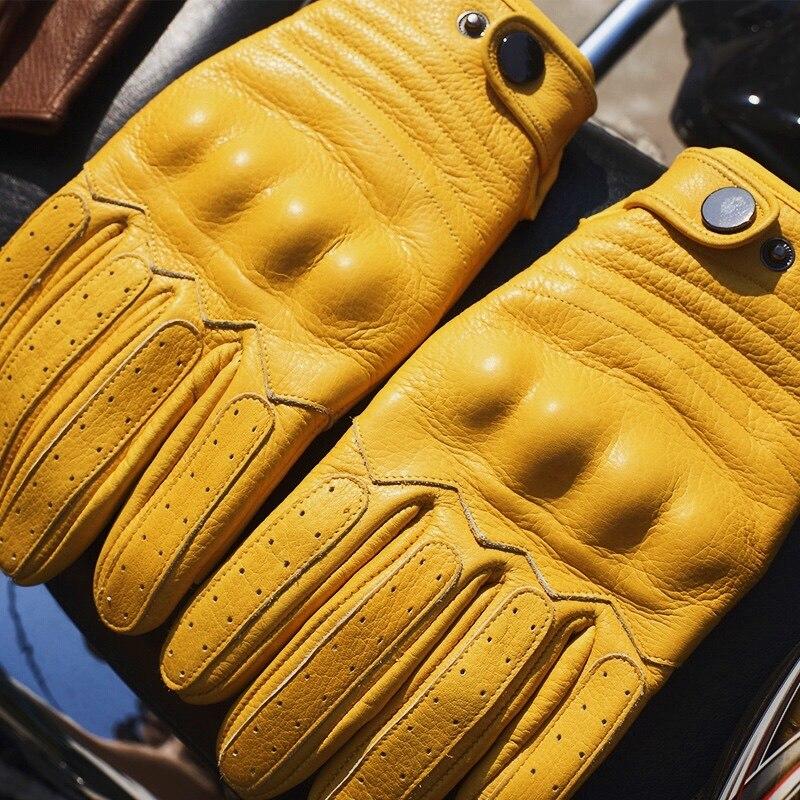 Зимние теплые гоночные Мотоциклетные Перчатки из воловьей кожи для мужчин и женщин для вождения Supertech черные/желтые гоночные велосипеды ры...