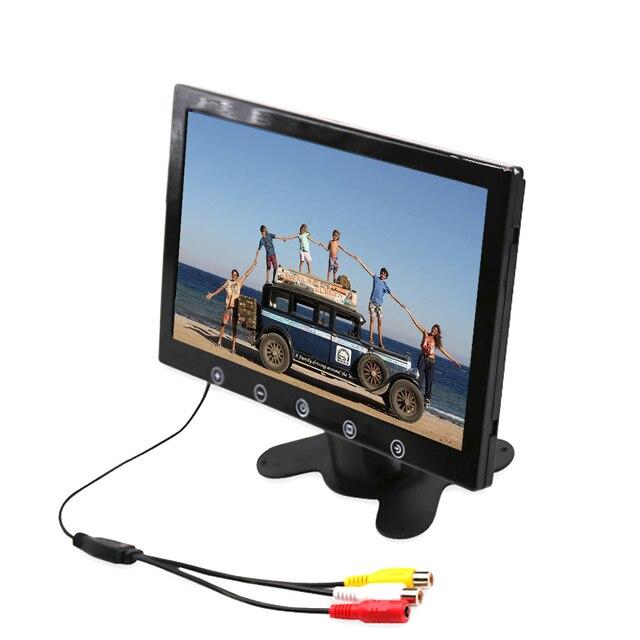 Moniteur de recul pour voiture 7 pouces 10.1x1024, écran LCD TFT, entrée vidéo TV, 2 AV, moniteur AV de stationnement pour voiture