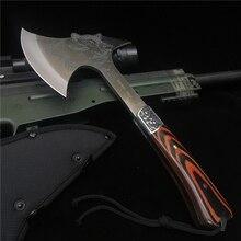 Axe Outdoor Hatchets Fire-Hand-Tool Tomahawk Bone-Chopper Survival Hunting-Knife 330MM