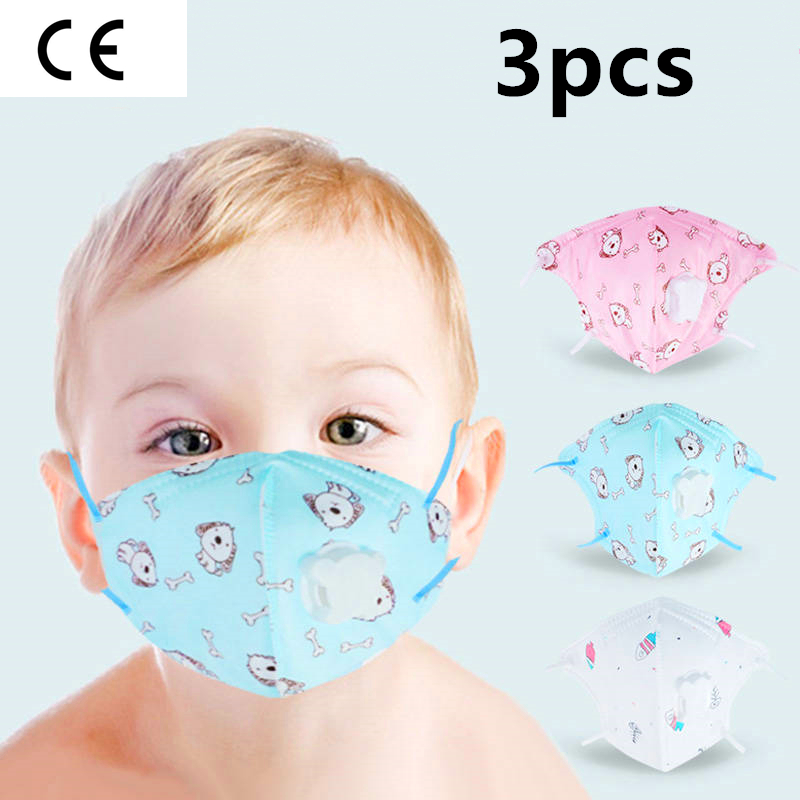 3pcs Animal Cartoon Baby Protective Mask 0-1-8 Ages Cotton Baby N95 Mask Kids Face Mask Mascaras Faciais Gripe For Children