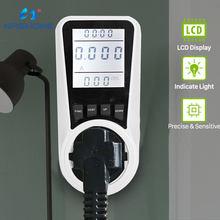 Nashone digital wattmeter ac medidor de energia 220v lcd medidor de energia monitor de energia plugue da ue tomada de potência quilowattatt tensão potência amp
