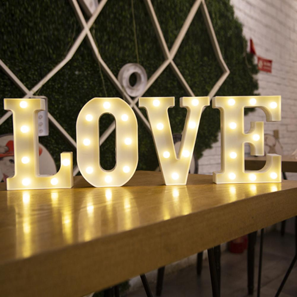16CM LED Letter Number Night Light Alphabet Battery Home Culb Wall Decoration Party Wedding Birthday Decor Valentine's Day Gift