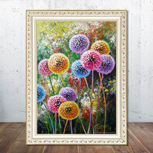 5D Diamand Painting Dandelion Cross stitch  Full Round Diamond Embroidery Needlework Mosaic Picture Rhinestone Home Decor gift