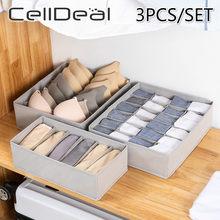 Celldeal 3Pcs Bra Ondergoed Organisator Opbergdoos Non-woven Lade Kast Organisatoren Opslag Organizador Lade Divider Dozen