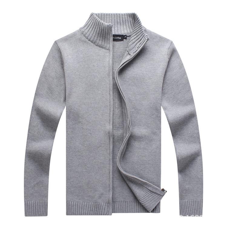 HO 2019 Autumn Outfit Man Zipper Collar Recreational Sweater Cardigan Sweater Cotton
