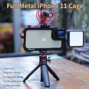 Image 4 - Ulanzi vlog金属ケースケージiphone 11ビデオ撮影記録vloggingケース17ミリメートル糸で1/4ネジ