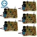 5Pcs DC 3V FM Radio Transmitter Kit With Microphone 88-108MHz Sound Electrical Signal Transform Module DIY Solder Practice