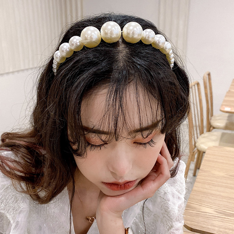 New Vintage Women Girls Pearls Hairband Elegant Headband Hair Holder Headwear Head Band Hair Band Sweet Hair Accessories