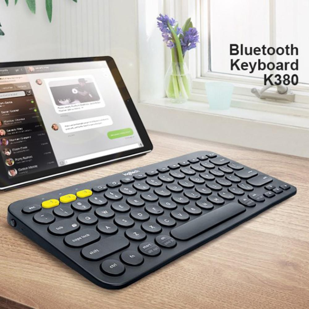 Image 5 - Logitech K380 Multi Device Bluetooth Wireless Keyboard Ultra Mini Mute for Mac Chrome OS Windows for iPhone iPad AndroidKeyboards   - AliExpress