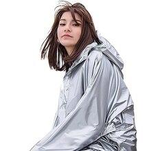 Long Waterproof Raincoat Woman Silver Outdoor Motorcycle Trench Coat Rain Poncho Jacket Camping RainWear Hiking Rain Clothing