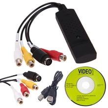New Arrival USB 2.0 Easycap Capture 4 Channel Video TV DVD VHS Audio Capture Adapter Card TV Video DVR