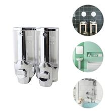 Wall Mount Soap Sanitizer Soap Dispenser Durable Single-Head Manual Hand Liquid Shampoo Shower Gel Dispenser Lotion Container