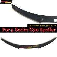 F90 Carbon Fiber Rear Trunk Spoiler Wing Boot Lip M4 Style for BMW G30 G31 Spoiler 5 Series 530i 540i F90 M5 Sedan 4-Door 2017- стоимость