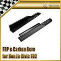 Auto styling Für Honda Civic FD2 Carbon Side Rock Spat Glossy Finish Splitter Verlängerung Fibre Drift Racing Zubehör kit|Bodykits|Kraftfahrzeuge und Motorräder -