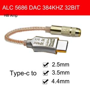 Image 1 - ALC5686 usbタイプc dacヘッドフォンアンプ2.5/3.5/4.4ミリメートルpcm 32bit 384 192khzオーディオデコードandroidのタブレット用Windows10 macbook