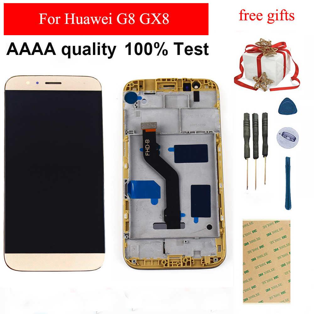 ЖК-дисплей для huawei G8 GX8 RIO-L01 RIO-L02 RIO-L03 G7 плюс ЖК-дисплей Сенсорный экран планшета Сенсор ЖК-дисплей Дисплей монитор сборка Рамка