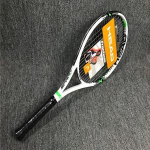 Cabeça raquete de tênis carbono liga alumínio padel raquete profesional conjunto ultra leve com saco overgrip corda raqueta tenis