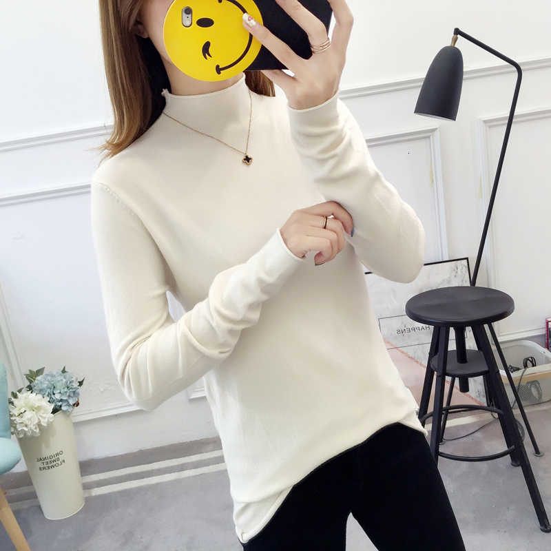 Nkandby Vintage Turtleneck Pullover Sweater Women 2019 Autumn Winter Clothes Korean Slim Long Sleeve Stretchy Basic Knitted Tops