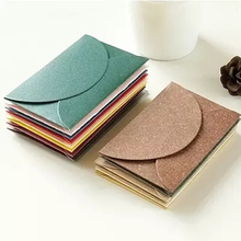 10pcs/lot 9*6cm Small Card Envelope Korean Stationery Creative retro Color Thicken  Pearlescent Paper MINI Membership