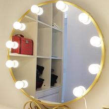 LED Hollywood maquillaje tocador espejo luces 10 bombillas Kit ajuste de longitud de línea para tocador conector USB Luz de maquillaje