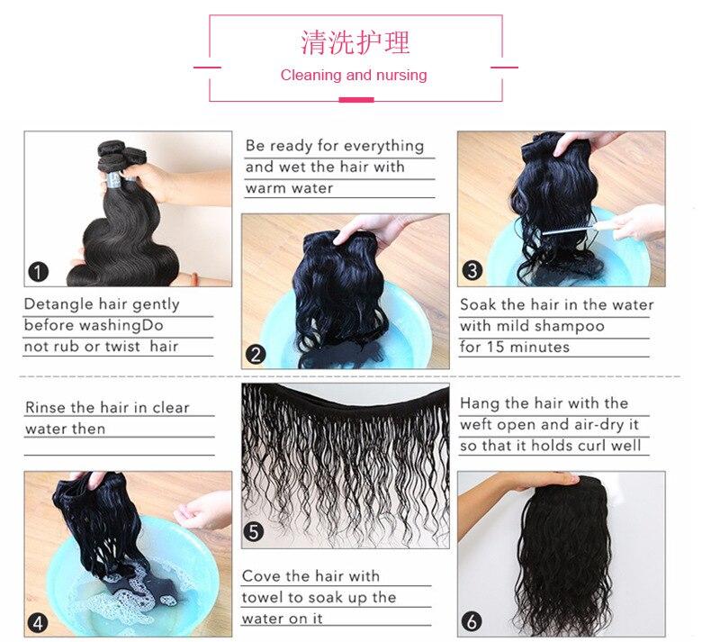 cor do cabelo humano onda do corpo perucas bandana