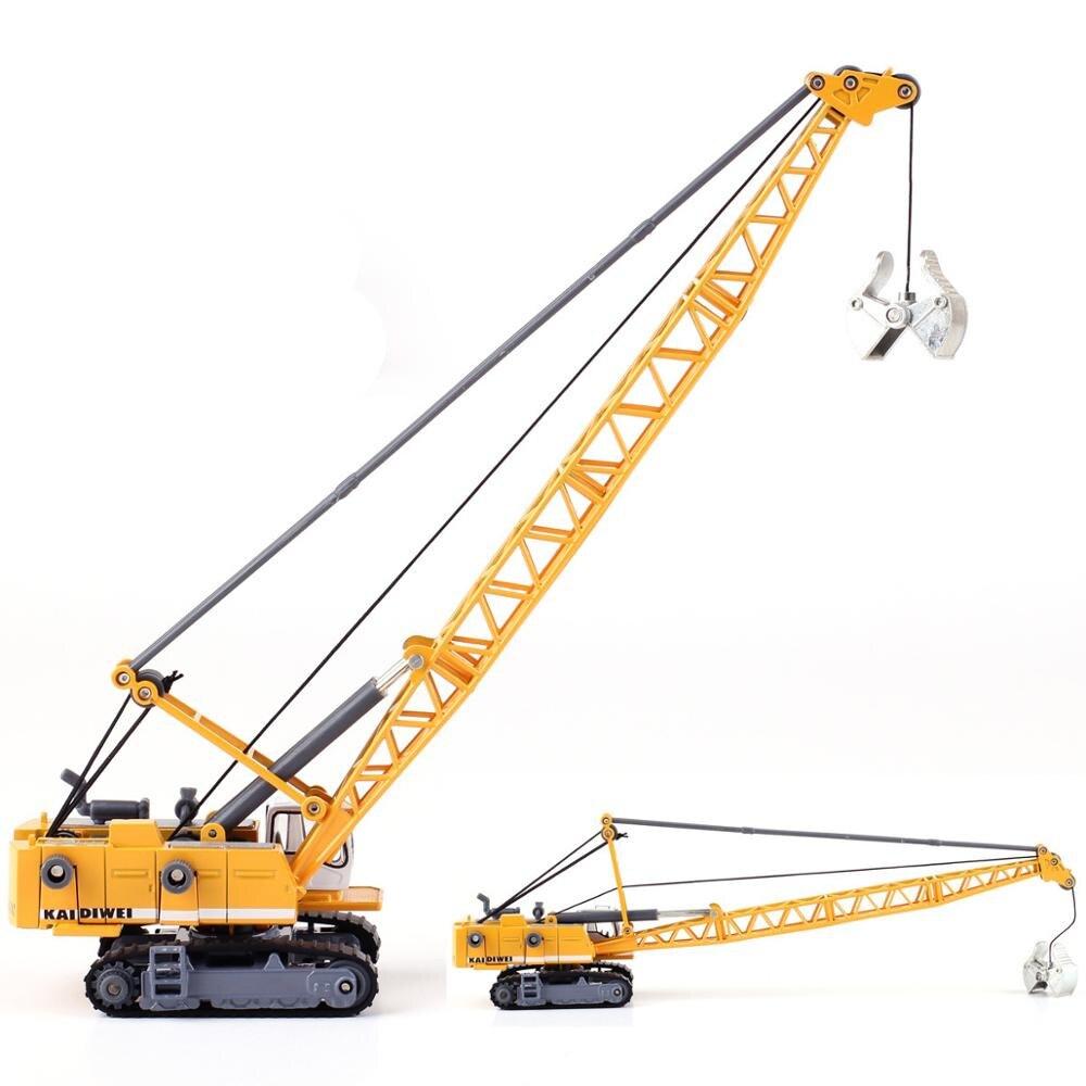 Best selling 1 87 torenkraan legering model, metalen techniek model speelgoed, simulatie kinderen gift collection, gratis verzending