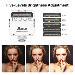 Image 5 - Ulanzi מיני נייד LED וידאו אור קר משולש נעל נטענת Vlog למלא אור צילום תאורה חצובה ערכת CRI95 +