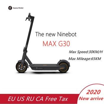Nuevo Original Ninebot Max G30 KickScooter plegable eléctrico inteligente Scooter aerotabla 350W de potencia de 30 Km/h, 10 pulgadas de 65Km de kilometraje