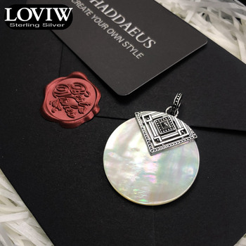 Pendant Africa Disc Mother of Pearl, Winter New 925 Sterling Silver Jewelry Thomas sabor Style Gift For Woman 4
