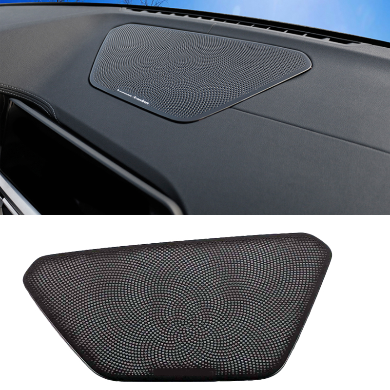 For BMW 3 Series G20 G28 2019 2020 Black Stainless Steel Car-Styling Stickers Dashboard Speaker Horn Frame Decoration Covers
