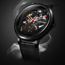 Ciga Ontwerp Automatische Mechanische Horloge Mannen Roestvrij Staal Case Horloge Waterdichte Skeleton Klok Chinese Stijl Ciga Horloges