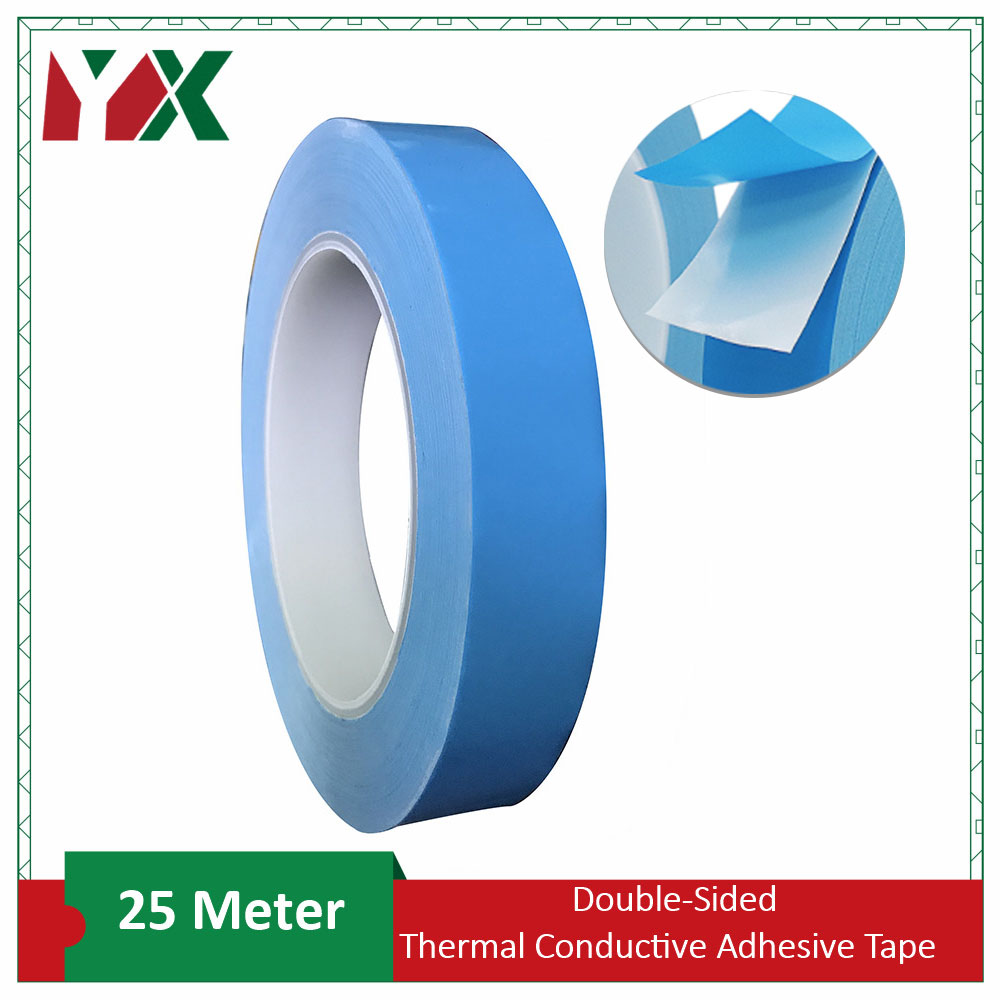 YX 25M Double Sided Transfer Heat Tape Thermal Conductive Adhesive Tape for Chip <font><b>PCB</b></font> CPU LED Strip Light Heatsink image