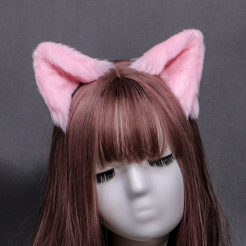 Cat Fox Ears Hairpin Women Girls Fashion Plush Hairclip Lovely Gift Animal Cosplay Purim Party Headwear Hair Accessories