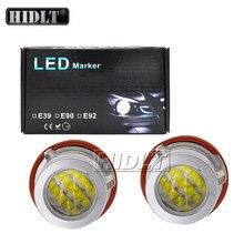 HIDLT 2021 New 2*90W 180W High Bright BMW E39 LED Angel Eyes No Error Canbus Car Light LED Marker Kit For BMW E60 E63 E53 E65