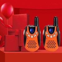 מכשיר הקשר 2pcs מכשיר הקשר Kids רדיו Retevis RT-602 UHF 446MHz 0.5W 8ch LCD Display VOX עם מטען סוללות שני הדרך רדיו A7120 (1)