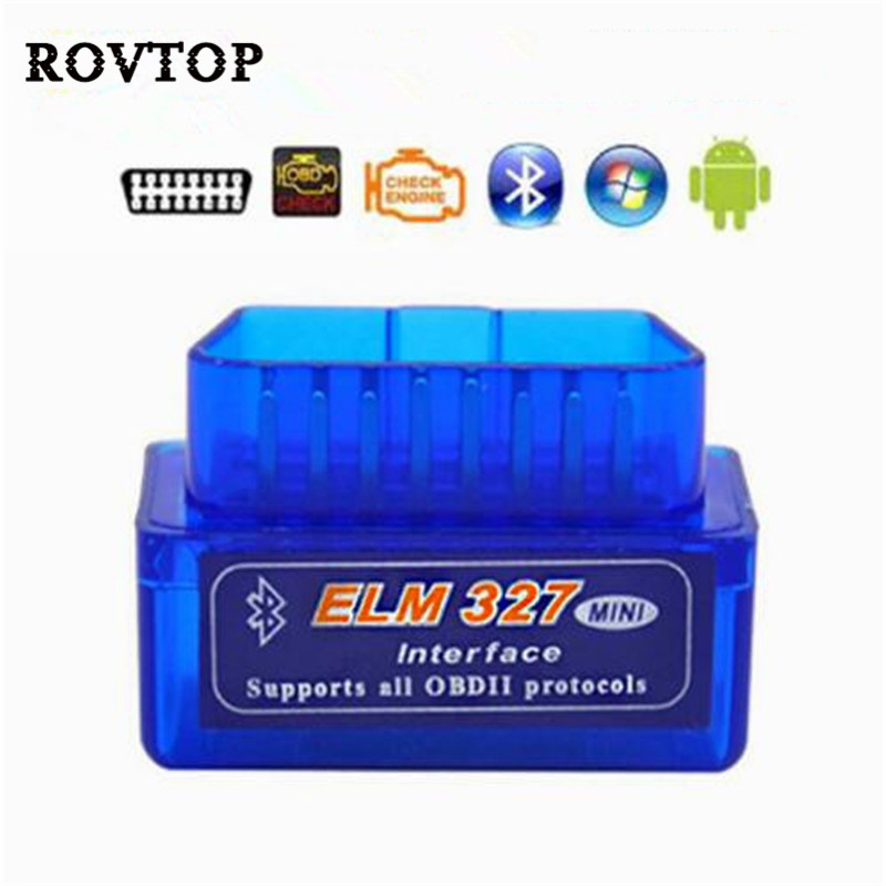 Auto Scanner Mini ELM327 Bluetooth OBD2 V2.1 Auto Scanner OBDII 2 Car ELM 327 Tester Diagnostic Tool For Android Windows Symbian