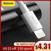 Baseus 2pcs USB Cable para iPhone 6 7 8 plus X XR 11 12 mini USB cargador de Cable de carga rápida de 1,5 M