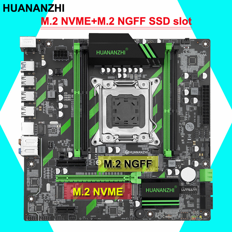 HUANANZHI X79-ZD3 M-ATX motherboard with M.<font><b>2</b></font> NVME and M.<font><b>2</b></font> NGFF slots discount motherboard with <font><b>SATA3.0</b></font> <font><b>USB3.0</b></font> RAM max up to 64G image