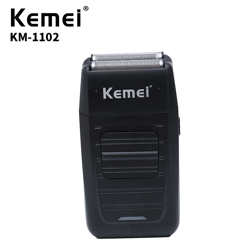 Kemei KM-1102 Cordless Electric Shaver Mens Double Blade Retro Beard Knife Facial Care Multi-function Essential