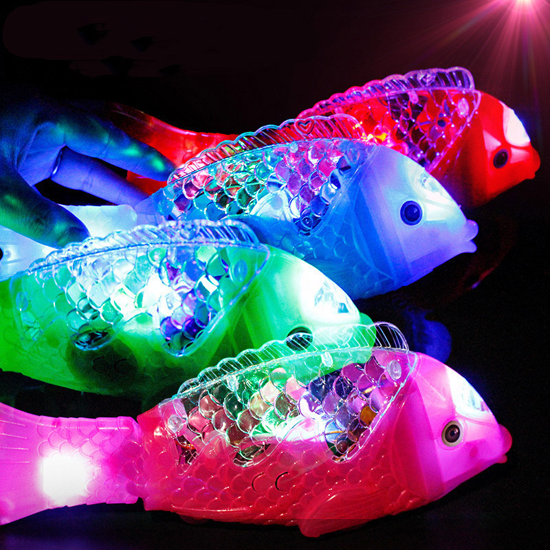 Cute Simulation Fish Toy Boys Creative Pet Magical Music Lights Swim Fish Toys Kids Puzzle Electric Toy Children Christmas Gifts