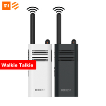 Original xiaomi beebest xiaoyu handheld walkie talkies portátil bateria de grande capacidade 5 w potência sem fio interfone