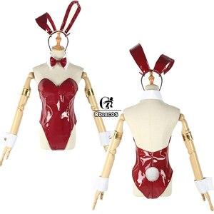 Image 5 - Niestandardowy hot japanese Anime DARLING in the FRANXX przebranie na karnawał Zero dwa kostium króliczka przebranie na karnawał 02 Sexy kobiety kombinezon czerwona skóra garnitur