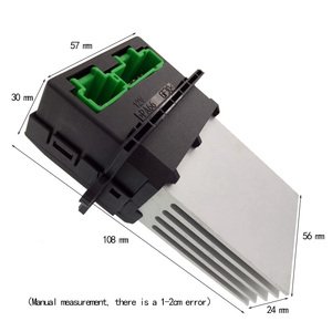 Image 2 - Air Conditioning blower Resistor+Connector/Wire for Renault Citroen Megane Scenic Clio PEUGEOT 207 607 6441 L2 6441L2 7701207718