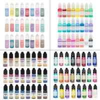 24 Pcs/set Crystal Epoxy Pigment UV Resin Dye DIY Jewelry Art Crafts Colorant