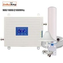 Repetidor de banda tripla dcs wcdma, amplificador móvel, 900 1800, gsm, repetidor, 2g, 3g, 4g, lte impulsionador de sinal celular