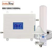 Repetidor tribanda amplificador móvil 900 1800 2100 GSM repetidor DCS 2G WCDMA 3G 4G repetidor LTE Amplificador de señal móvil