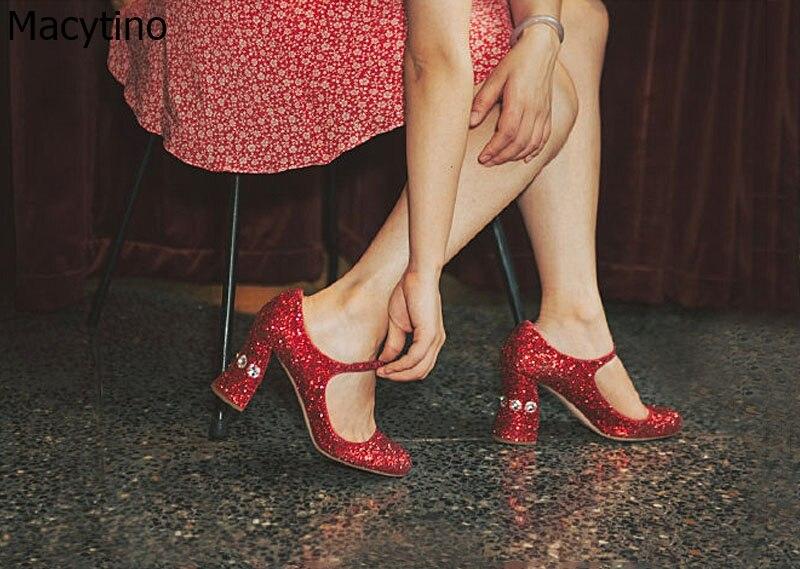 2019 Bianco Da Sposa Talloni Delle Donne Pompe Sexy Delle Signore Super Tacchi Alti Moda Red Foil Shinning Delle Donne Del Partito Scarpe Tacco Grosso 10 centimetri - 4