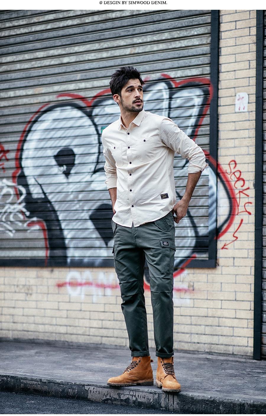 Hea81c2a33b17491cb4d7500b4c1c8a6er SIMWOOD New 2019 Casual Pants Men Fashion track Cargo Pants Ankle-Length military autumn Trousers Men pantalon hombre 180614