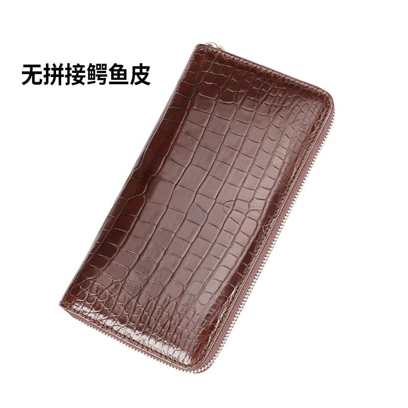 Carteira de cartão de visita carteira de couro de crocodilo real
