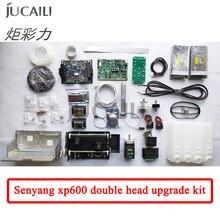 Jucaili طابعة كبيرة xp600 ترقية عدة ل dx5/dx7 تحويل إلى xp600 مزدوجة رئيس كاملة تحويل عدة ل الطابعة الإيكولوجية المذيبة